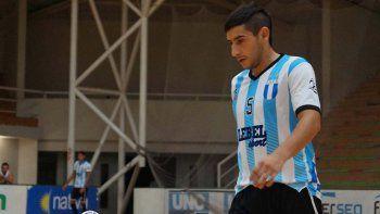 Matías Rima, jugador de la selección argentina de fútbol de salón y uno de los integrantes de Comodoro Rivadavia.