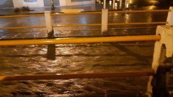 Los comerciantes de Kennedy fueron afectados por la lluvia