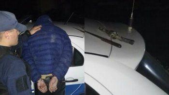 ladrones enfrentaron a la policia con la replica de un revolver