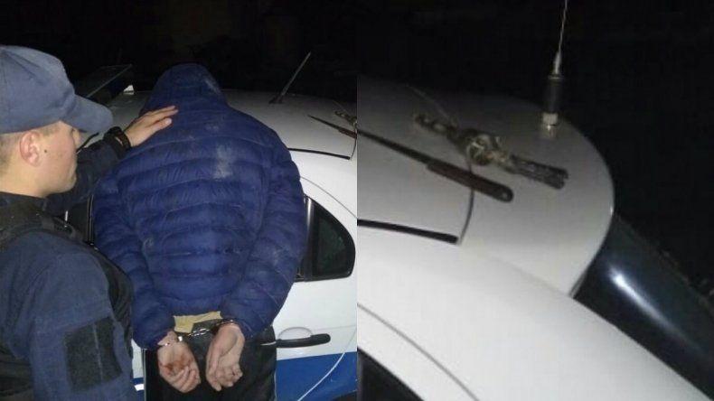 Intentaban robar en una vivienda y enfrentaron a la policía con la réplica de un revólver