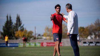 Walter Perea, juega en la Reserva de Independiente y sueña con llegar a la Primera división del Rojo que estrenará DT.