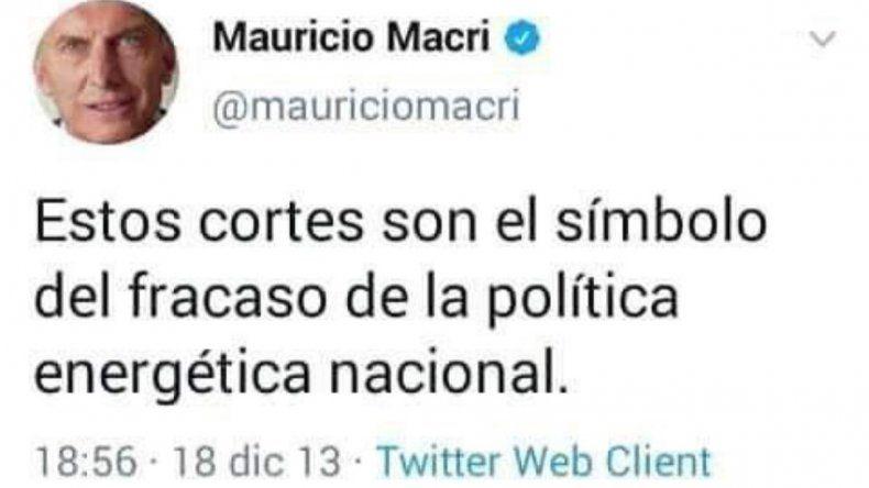 Le recordó a Macri lo que en 2013 tuiteaba sobre los cortes
