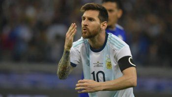 Lionel Messi, el capitán de la selección argentina que esta tarde buscará meterse en los cuartos de final de la Copa América.
