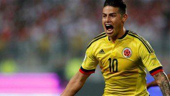 James Rodríguez, mediocampista colombiano que ya está clasificado para los cuartos de final de la Copa América.