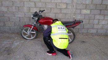 secuestran una moto que habian robado en 2013