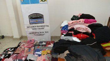 gendarmeria secuestro mercaderia ilegal valuada en 150 mil pesos