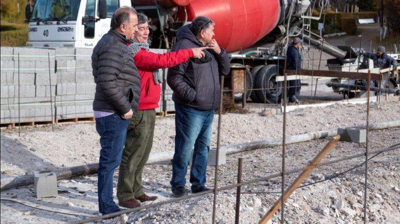 Linares recorrió las obras en el Parque de Astra