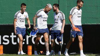 La selección argentina tiene todo listo para el partido de mañana con Venezuela.