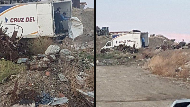 Denuncian a empresa por arrojar basura en barrio Stella Maris