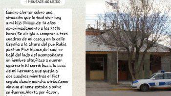 La policía de Sarmiento desmintió intento de secuestro de un niño