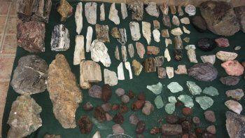 Las piezas que fueron recuperadas por el personal de Aduana.