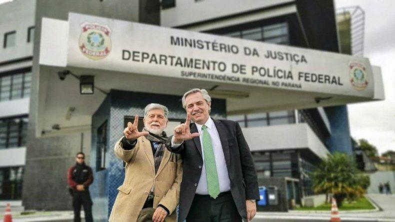 Alberto Fernández visitó a Lula en la cárcel