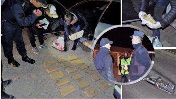 Massoni y el subjefe de Policía persiguieron un auto con 15 kilos de droga