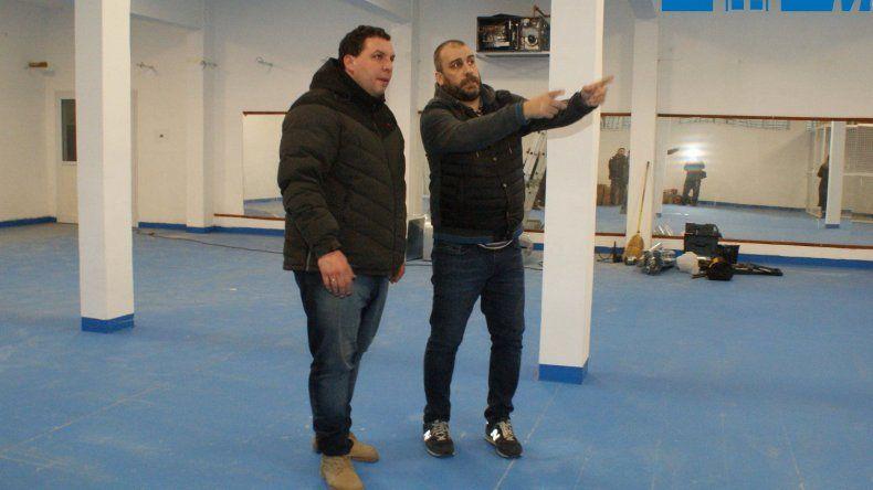 El intendente Facundo Prades y el supervisor de Deportes