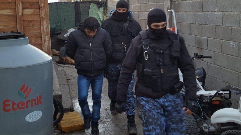 Uno de los procedimientos desarrollados el 15 de junio que culminó con la detención de once personas.