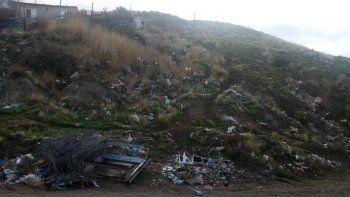 El sector del barrio San Martín donde la mujer fue hallada el domingo a la noche.
