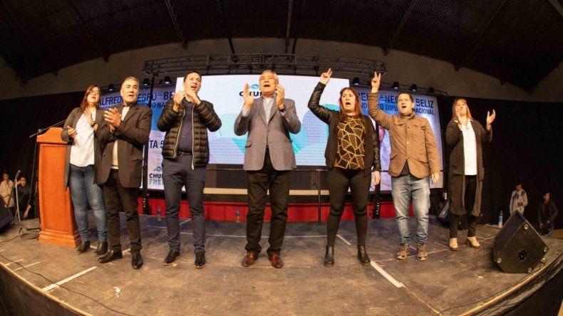 Alfredo Beliz lanzó su precandidatura a diputado nacional con un acto realizado en el club Independiente de Trelew.