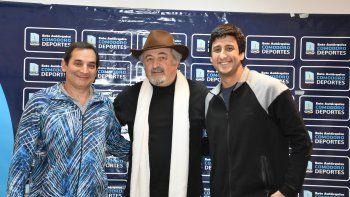 Carlos Portas, Othar Macharashvili y Juan Torres durante la presentación que se realizó el miércoles.