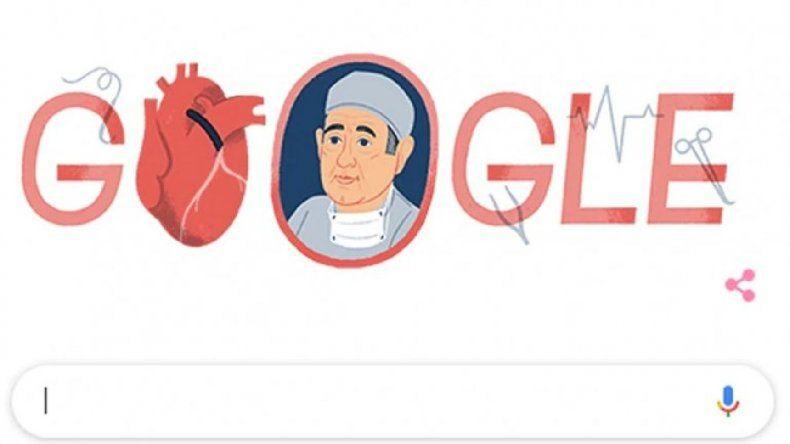 A 96 años del nacimiento de Favaloro el homenaje de Google