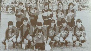 El plantel que hizo historia. Palazzo participó por primera vez en el torneo Regional 1989.