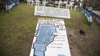 los soldados continentales piden ser  reconocidos por la provincia del chubut