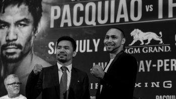 Manny Pacquiao y Keith Thurman prometen una interesante pelea en Las Vegas.