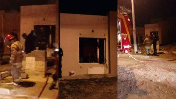 se incendio una casa en ciudadela: habria explotado un calefactor