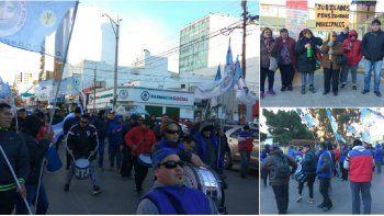 jubilados, estatales y colectiveros se movilizaron por el centro