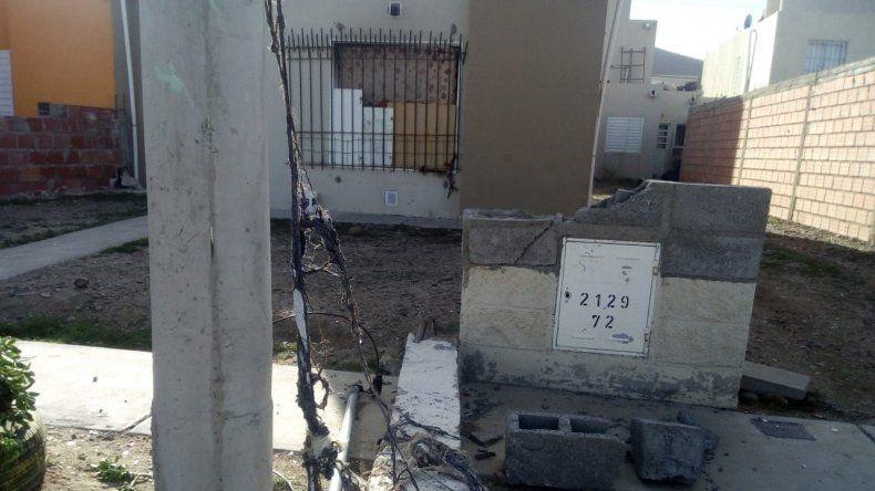 La vivienda en la que se registró la explosión y posterior incendio.