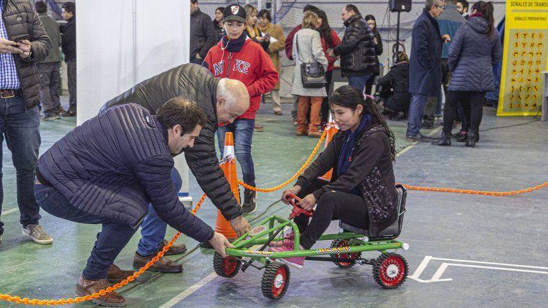 Luque y Gaitán durante la inauguración de la expo.