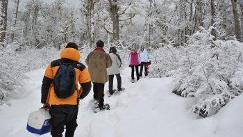 ushuaia tiene a la nieve como principal atraccion