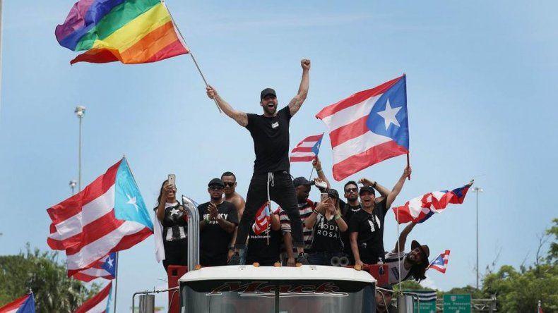 Ricky Martin al frente de las manifestaciones en Puerto Rico