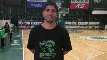 Martín Villagrán, entrenador de Gimnasia, ya tiene equipo completo, a dos meses de la temporada basquetbolística.