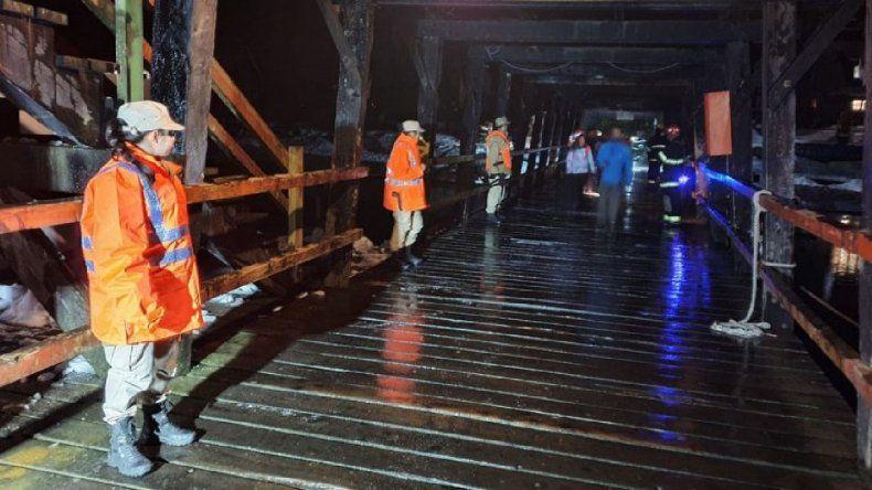 Por derrumbe y nieve debieron rescatar a 750 turistas por el lago