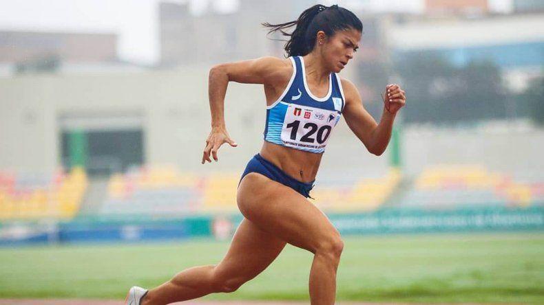 La atleta María Ayelén Diogo