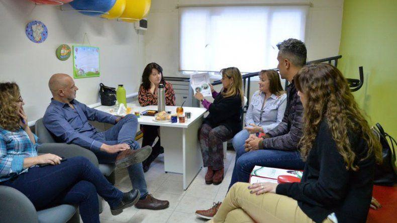 Martín Buzzi se interiorizó respecto a  los proyectos de la Fundación Crecer