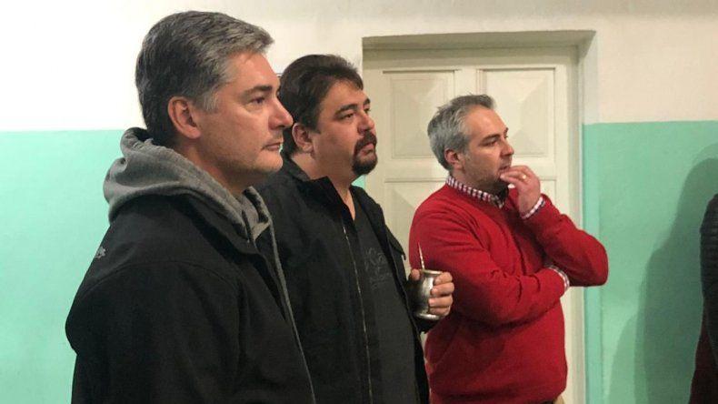 El encuentro de los candidatos con habitantes del barrio Laprida.