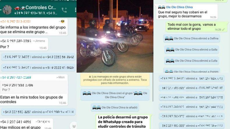Desarmaron otro grupo de WhatsApp para eludir controles de tránsito