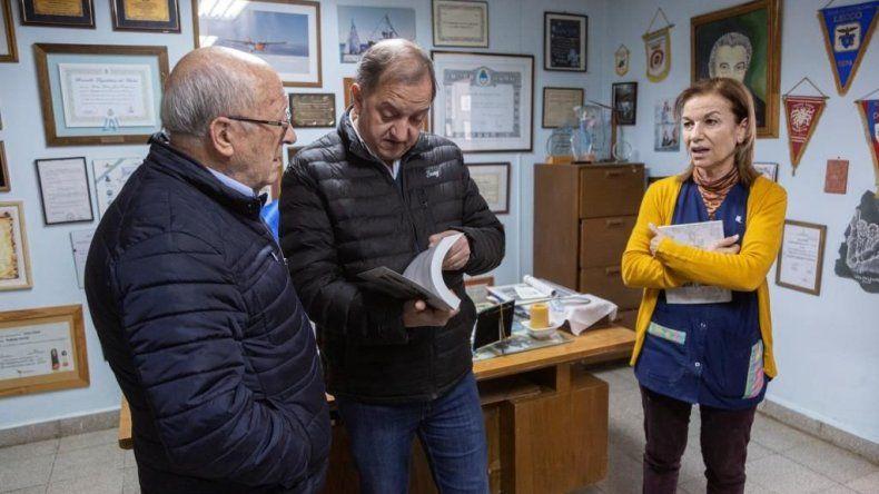 Linares fue recibido por el referente de la Fundación Padre Corti