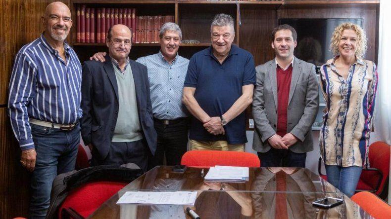 Viceintendente y secretario de Salud se reunieron con autoridades del Colegio Médico de Comodoro Rivadavia.