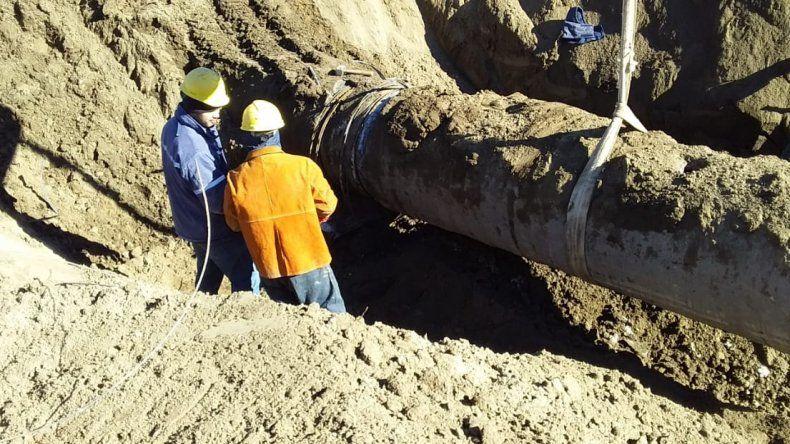 Las tareas de reparación del acueducto nuevo se desarrollan sin inconvenientes