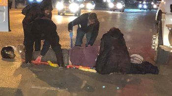 Embistieron a un policía que se movilizaba en motocicleta