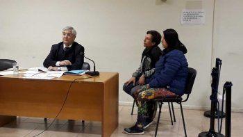 Susana Bustamante hace un mes cuando afrontó junto a su pareja la audiencia de control de detención por los robos domiciliarios.