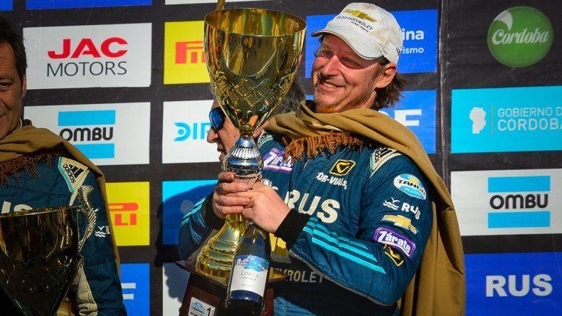David Nalbandian tuvo que esperar más de cincuenta carreras para festejar su primer triunfo en el Campeonato Argentino de Rally.