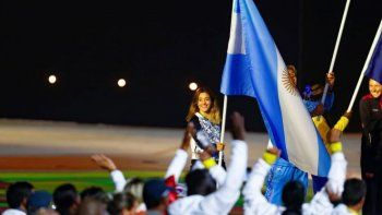 Delfina Pignatiello fue la abanderada en el cierre de los Panamericanos