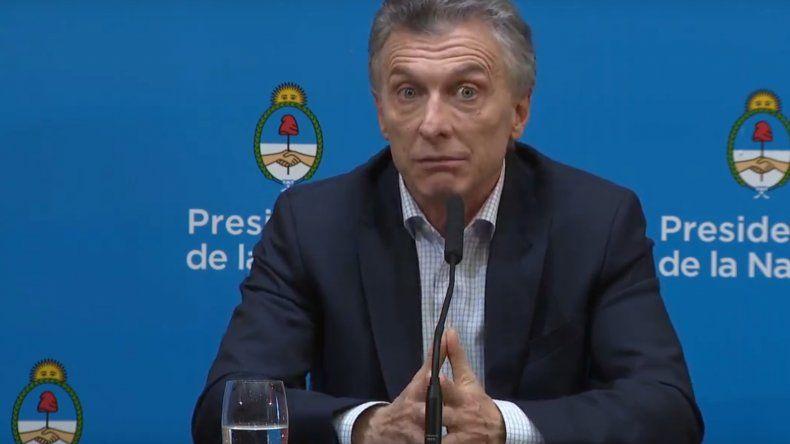 Mauricio Macri aseguró que no se puede hacer cargo de la megadevaluación