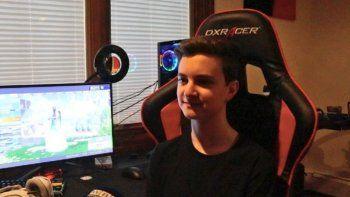 Dejó la escuela para ser jugador profesional de Fortnite