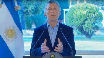 Macri grabó un mensaje para anunciar las medidas económicas