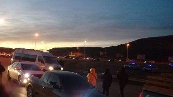 incidentes con la policia en el corte de ruta de los estatales en 3 y 26