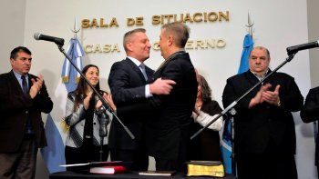 Arcioni le tomó juramento a Antonena como nuevo ministro de Economía